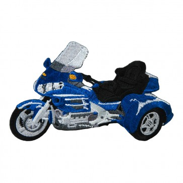 Embroidered Honda 1800 Trike Royal Blue Motorcycle Patch
