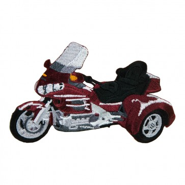Embroidered Honda 1800 Trike Burgundy Motorcycle Patch