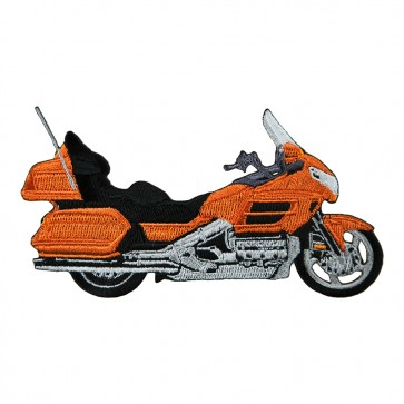 Sew On Honda Touring Goldwing 1800 Orange Embroidered Motorcycle Patch