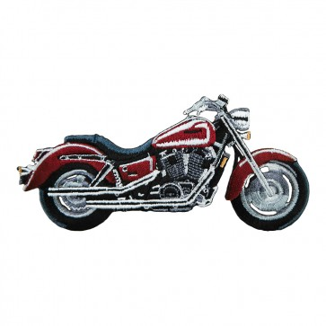 Iron On Embroidered Honda Shadow Sabre Maroon Cruiser