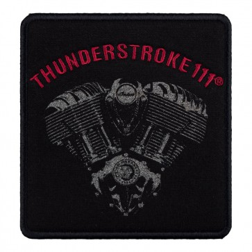 Indian Motorcycle Red Thunderstroke V-Twin Engine Patch