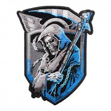 Angel Of Death Blue Shield Embroidered Patch