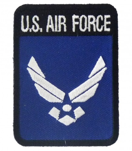 95abaf92a82a8 U.S. Air Force Rectangle Logo Patch, Air Force Patches