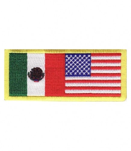 FLAG PATCH PATCHES MEXICO MEXICAN  IRON ON COUNTRY EMBROIDERED WORLD FLAG