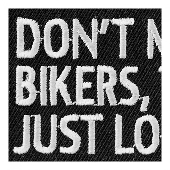 Dont Mess With Bikers Embroidered Sew On Patch