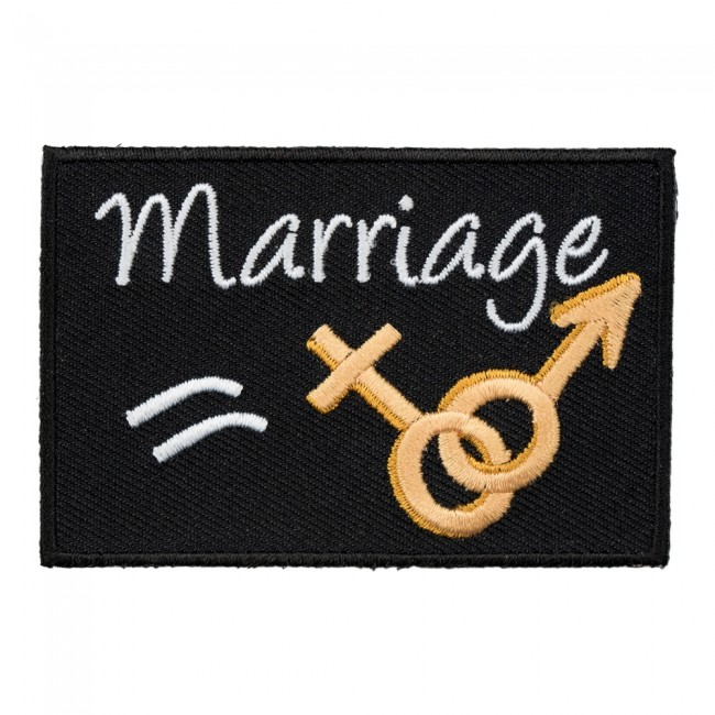 Marriage Equals Man Woman Patch Sayings Patches