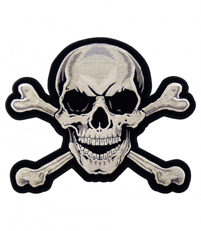 Crossbones patch Etsy