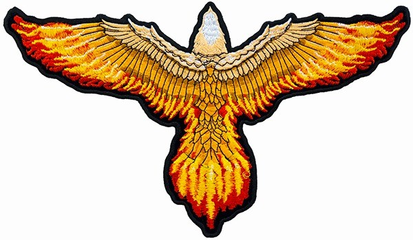 Flying eagle with flaming wings patch eagle back patches flying eagle with flaming wings patch eagle back patches altavistaventures Image collections