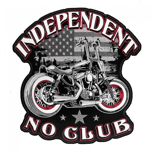 Independent No Club American Flag Biker Patch