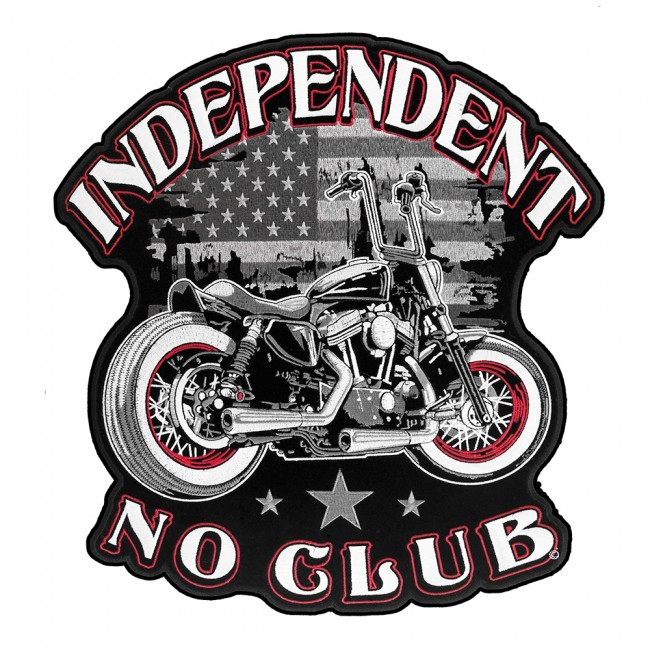 """/""""INDEPENDENT/"""" Iron On Patch Vest Title Saying Motorcycle Biker"""