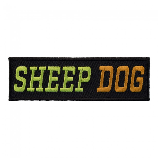 Sheep Dog Green Patch, Biker Sayings Patches