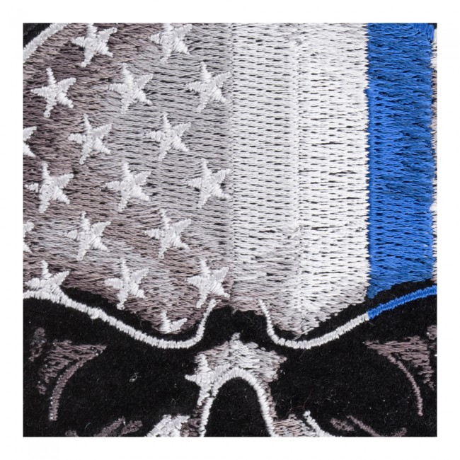 Subdued american flag patch with blue line