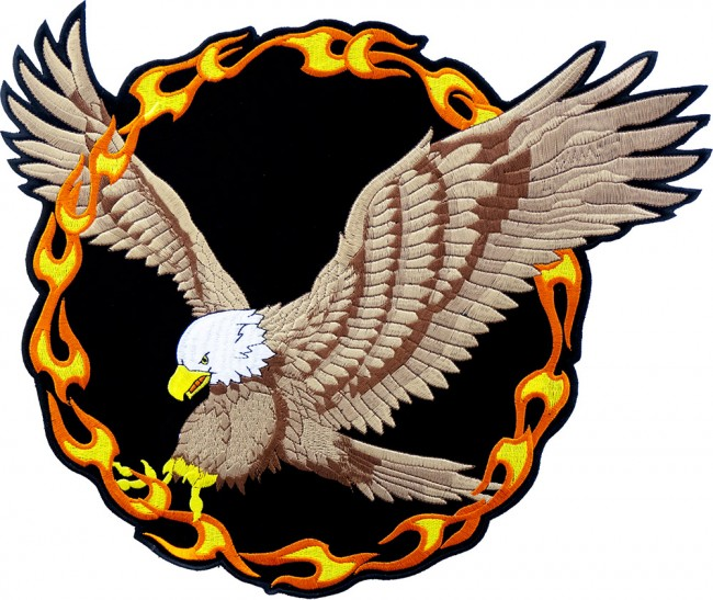 Ring of fire flying eagle patch eagle back patches ring of fire flying eagle embroidered patch altavistaventures Image collections