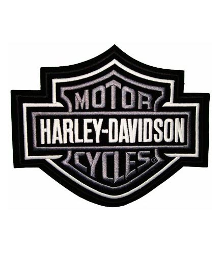 harley davidson classic bar & shield silver patch | harley patches