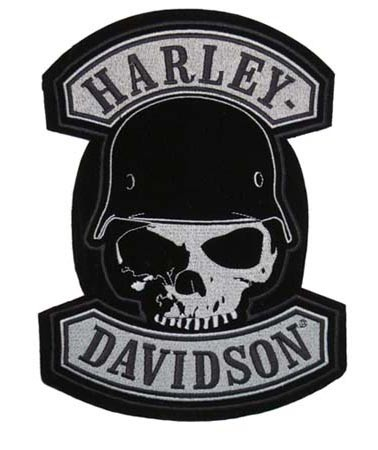 USA Made Embroidered Harley Davidson Spike Patches