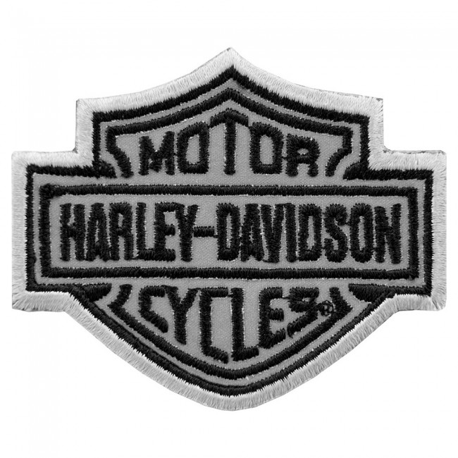 harley davidson bar & shield reflective patch | harley patches
