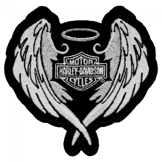 Home > Embroidered Patches > Lady Riders > Harley Davidson Studded Heart Embroidered  Patch, HD8