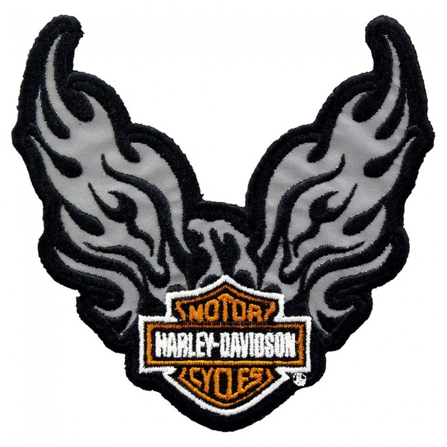Harley Davidson Phoenix >> Harley Davidson Phoenix Bar Shield Reflective Patch H D Patches