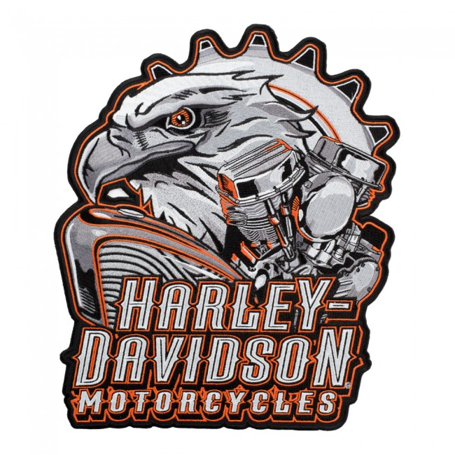 harley davidson eagle engine subdued grey patch | harley patches