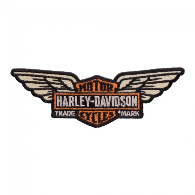 harley davidson long winged bar shield patch harley davidson patches rh patchstop com