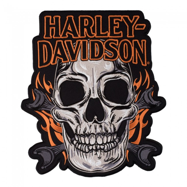 Embroidered Harley Davidson Factory Custom Wings B&S Sew On Patch