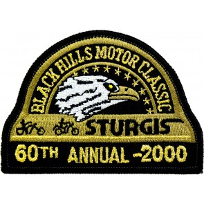60th 2000 Sturgis Motorcycle Rally Official Past Year Event Patches