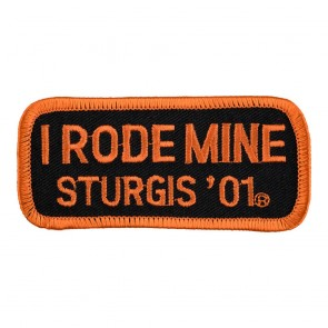2001 Sturgis I Rode Mine Orange Rally Patch_F