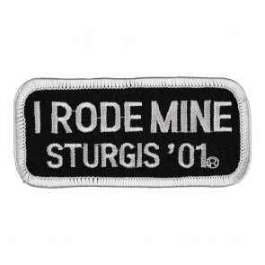 2001 Sturgis I Rode Mine White Rally Patch_F