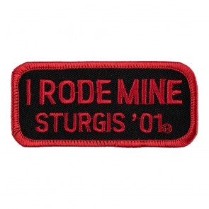 2001 Sturgis I Rode Mine Red Rally Patch_F