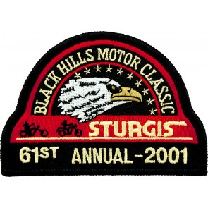 61st 2001 Sturgis Motorcycle Rally Official Past Year Event Patches