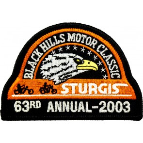 63rd 2003 Sturgis Motorcycle Rally Official Past Year Event Patches