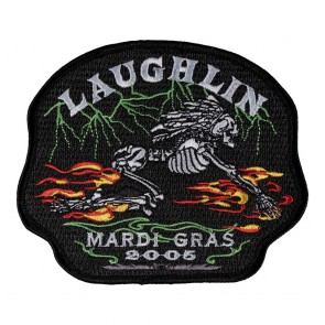 23rd Annual 2005 Laughlin Mardi Gras Racer Skeleton Event Patch