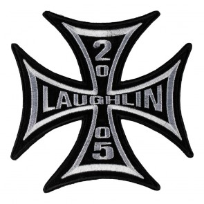 Embroidered 2005 Laughlin Iron Cross Event Patch