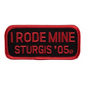 2005 Sturgis I Rode Mine Red Rally Patch_F