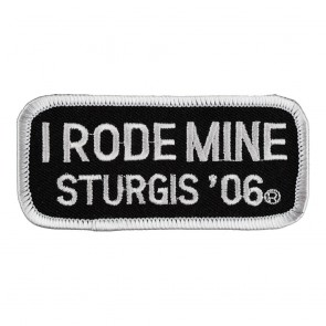 2006 Sturgis I Rode Mine White Rally Patch_F