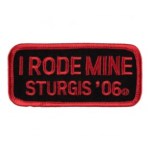 2006 Sturgis I Rode Mine Red Rally Patch_F