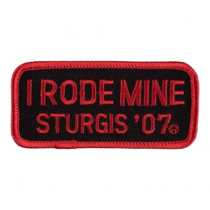 2007 Sturgis I Rode Mine Red Rally Patch_F