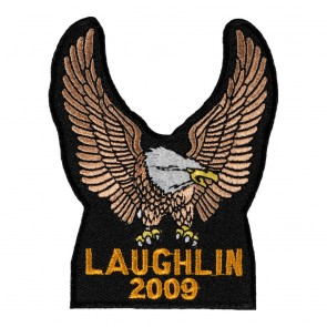 Embroidered 2009 Laughlin River Run Brown Eagle Upwing Event Patch
