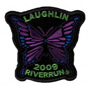 27th Annual 2009 Laughlin River Run Purple Butterfly Event Patch