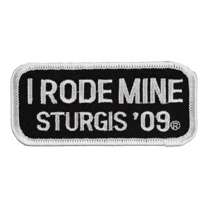 2009 Sturgis I Rode Mine White Rally Patch_F