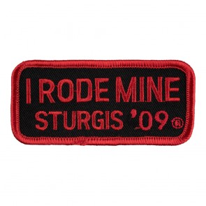 2009 Sturgis I Rode Mine Red Rally Patch_F