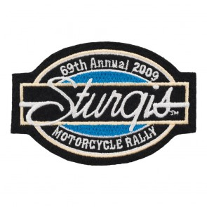2009 Sturgis Motorcycle Rally 69th Annual Bar & Oval Patch_F