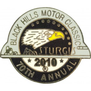 2010 Sturgis 70th Black Hills Motor Classic Eagle Pin