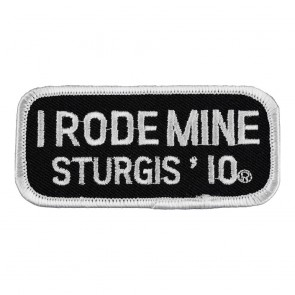 2010 Sturgis I Rode Mine White Rally Patch_F