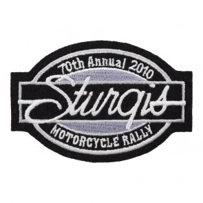 2010 Sturgis Motorcycle Rally 70th Annual Bar & Oval Patch_F
