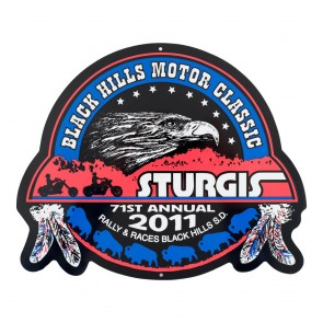 2011 Sturgis 71st Official Black Hills Motor Classic Metal Sign
