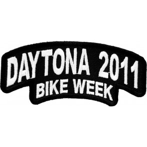 2011 Daytona Bike Week Stacked White Rocker Event Patch