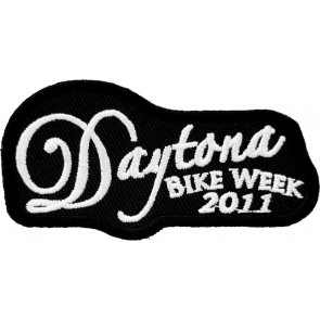 2011 Daytona Bike Week Embroidered White Script Event Patch