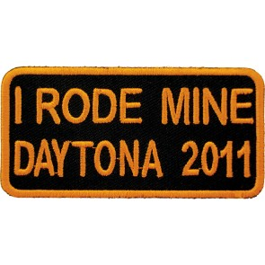 2011 Daytona Bike Week I Rode Mine Orange Event Patch