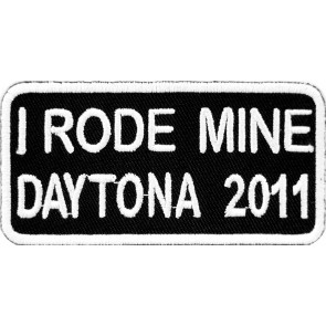 2011 Daytona Bike Week I Rode Mine White Event Patch